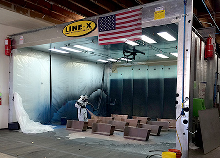 Light Industrial coating at Line-X of Orange County